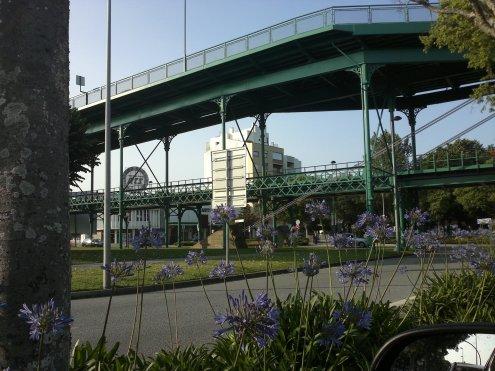 Brückenzufahrt am Nordufer
